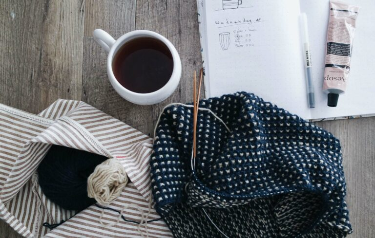 Coffee and a planner for the day for SecretarHe